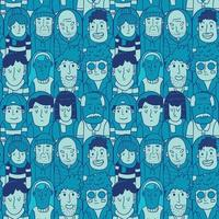 seamless pattern of audience soccer vector