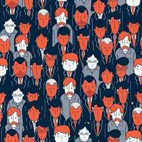 Seamless pattern of students and teachers vector