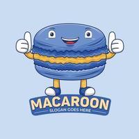 Macaroon Mascot Logo Vector in Flat Design Style