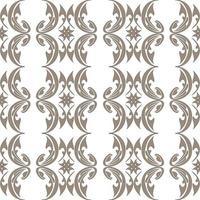 Patrón transparente marrón de elementos abstractos sobre un fondo blanco. vector