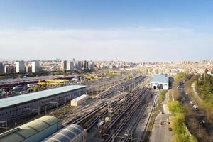 Trains and railways aerial view photo