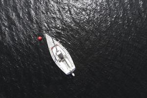 Transport concept with boat top view photo