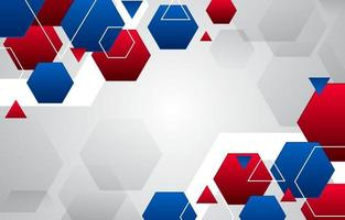Abstract Geometric Red and Blue Background vector