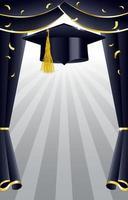 plantilla de fondo de fotomatón de graduación vector