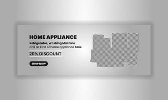 Home appliance promo template banner and cover for social media post design business marketing digital marketing vector