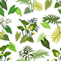Hand drawn tropical leaves seamless pattern for decorative fashion fabric textile apparel or all print vector