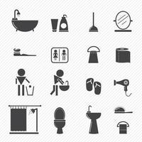 iconos de baño set ilustración vector
