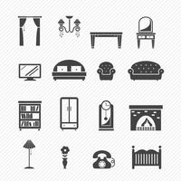 Furniture Icon set illustration vector