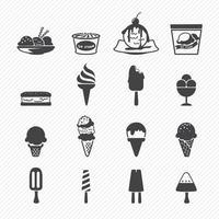 Ice Cream icon set illustration vector
