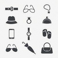 Fashion icons set illustration vector