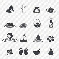 Spa icons set illustration vector