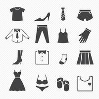 iconos de ropa set ilustración vector