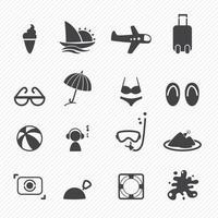 Summer Icons set illustration vector