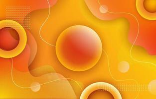3D Yellow Ball Bubble Liquid Background vector