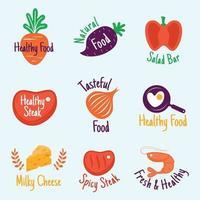 Healthy Food Logo Collection vector