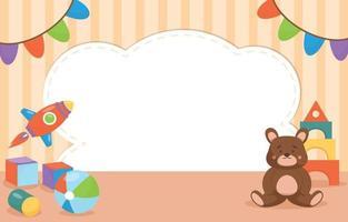 Toys Flat Design Background vector
