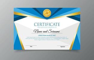 plantilla de diseño plano de certificado escolar vector