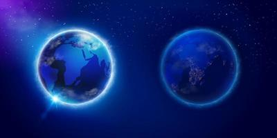 World day and night vector