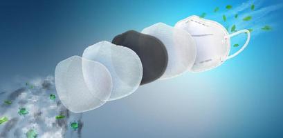Filtro de 5 capas de la mascarilla respiratoria n95 vector