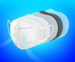N95 air filter mask vector