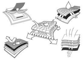 diseño de iconos de pañales vector