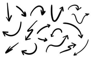hand drawn doodle arrow random illustrated vector free file