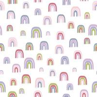Seamless vector pattern with hand drawn rainbows on white background  Creative kids style texture for fabric wrapping textile wallpaper apparel The surface pattern design