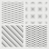 Seamless monochrome polka dot pattern set vector