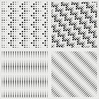 Seamless monochrome polka dot pattern vector