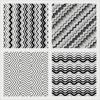 zigzag pattern set vector