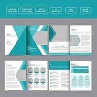 Solutions Healthcare Brochure Template vector
