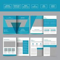 Medical brochure design template healthcare vector