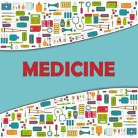 wavy border border on the theme of medicine vector