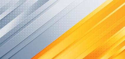 Abstract diagonal  light grey yellow orange background with dot decoration texture vector