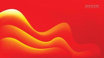 fondo degradado de onda roja vector
