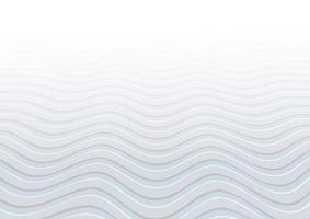 Abstract white and gray waves pattern background and texture vector