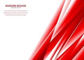 Abstract red gradient polygonal on white background with space for text vector
