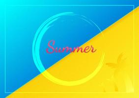 Abstract stripe lines diagonal blue and yellow  Summer background concept vector