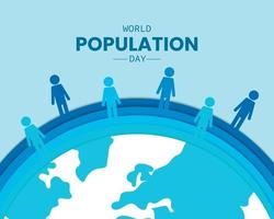 World Population Day With People Paper vector