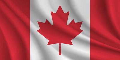 bandera ondulada de canadá vector