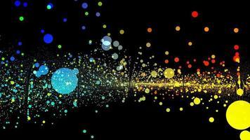 superficie de tecnología de bolas digitales de forma de onda colorida abstracta futurista video