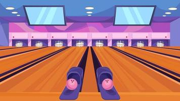 Classic bowling alley vector