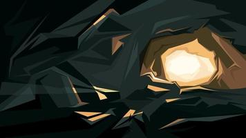 Beautiful cave background vector