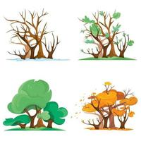 Forest at different times of year vector