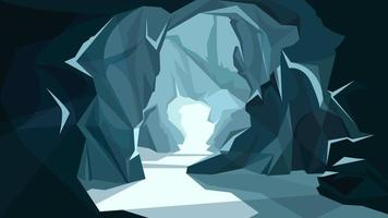 Beautiful underground landscape vector