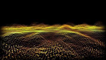 futuristiska abstrakt eldflugor över vågformsteknik digital yta video