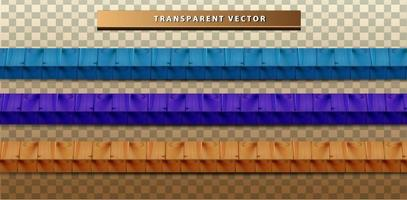 colorful wood texture set vector