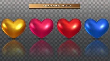 colorful heart set vector