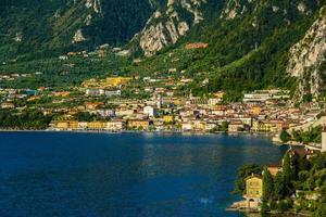 View of Limone Sul Garda at Lake Garda photo