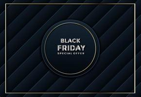black friday abstract textured paper cut background vector